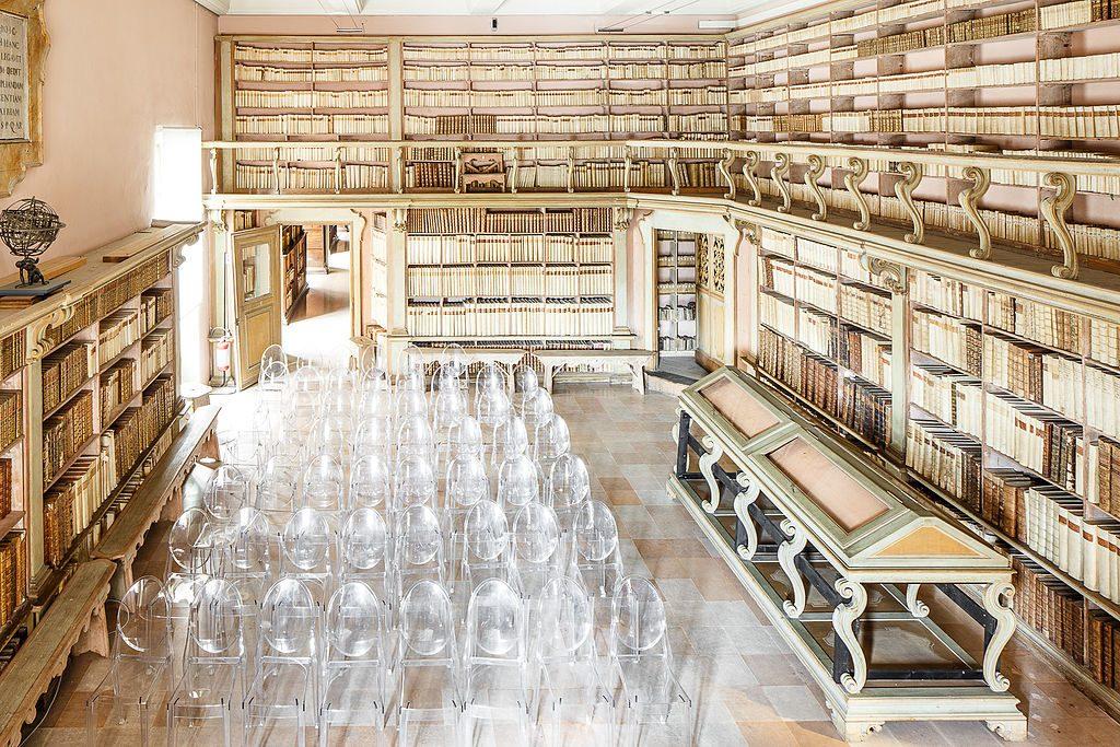 Interno Biblioteca Gambalunga, Rimini - Foto di Ivan Ciappelloni