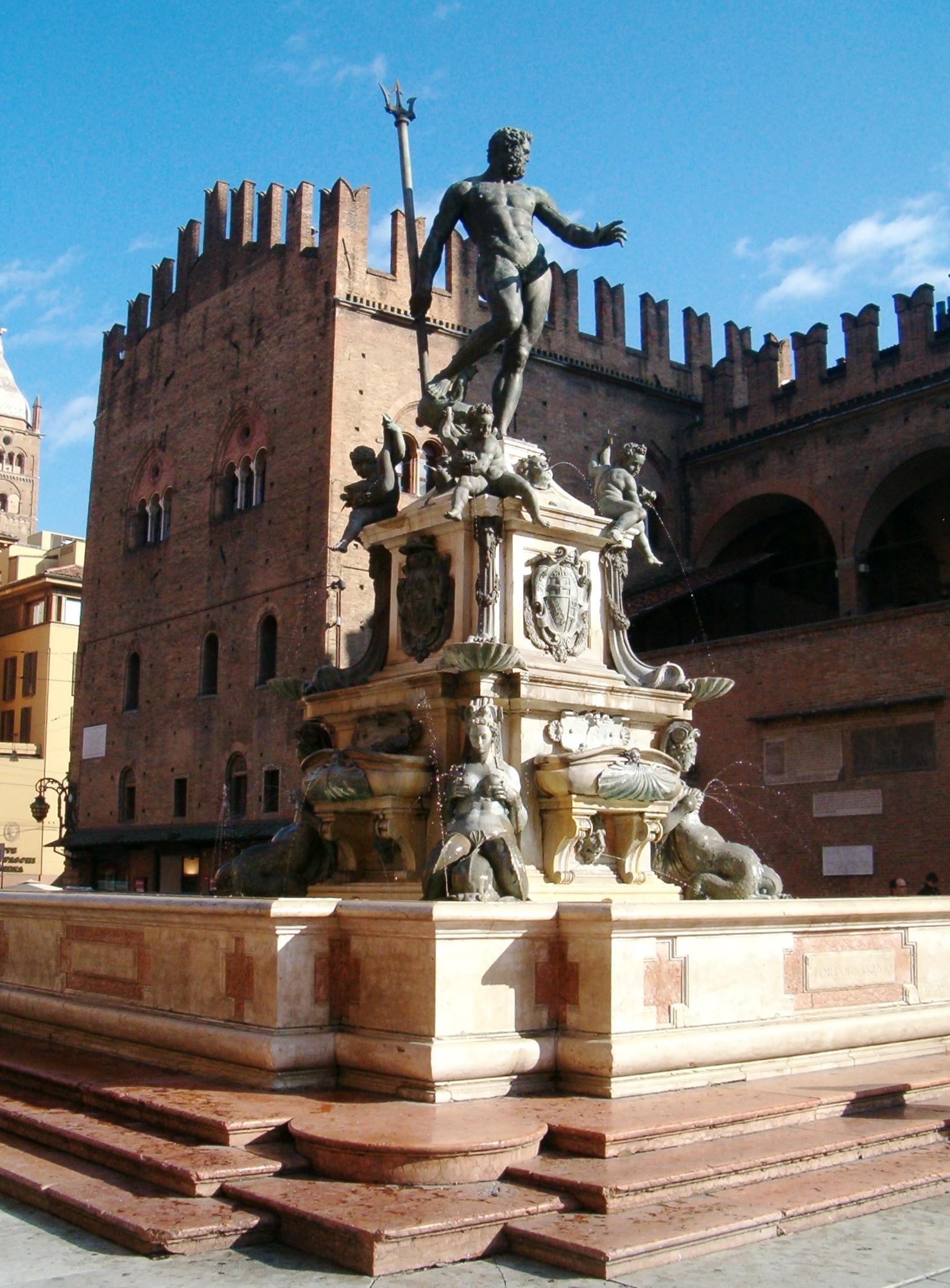 Bologna, Fontana del Nettuno | Ph. Marcok via wikipedia CC BY-SA 3.0