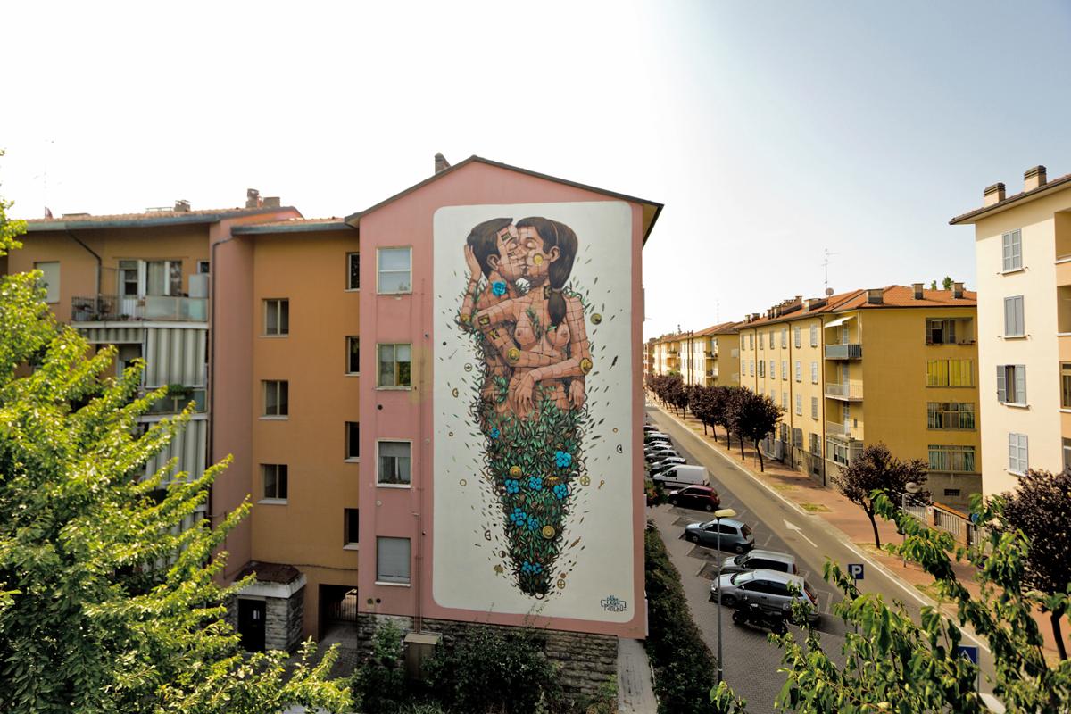 "PixelPancho ""The Last Kiss"" | Festival Subsidenze, Ravenna | Foto tratta da artslife.com"