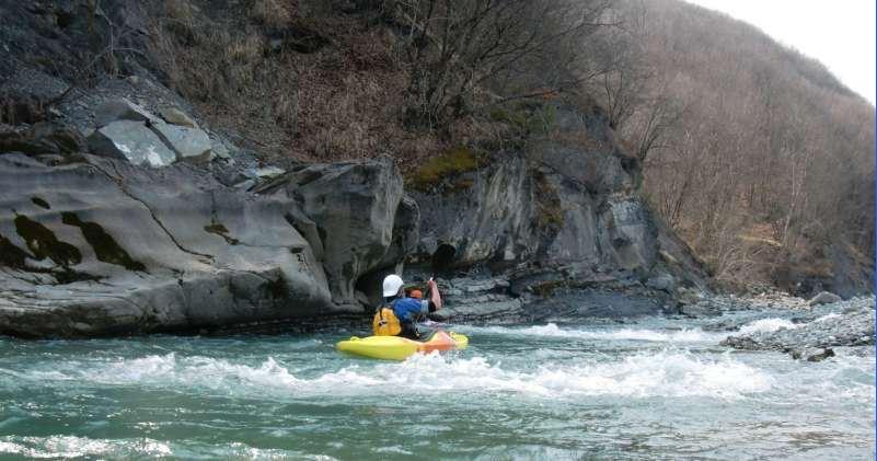 Kayak sul fiume Enza