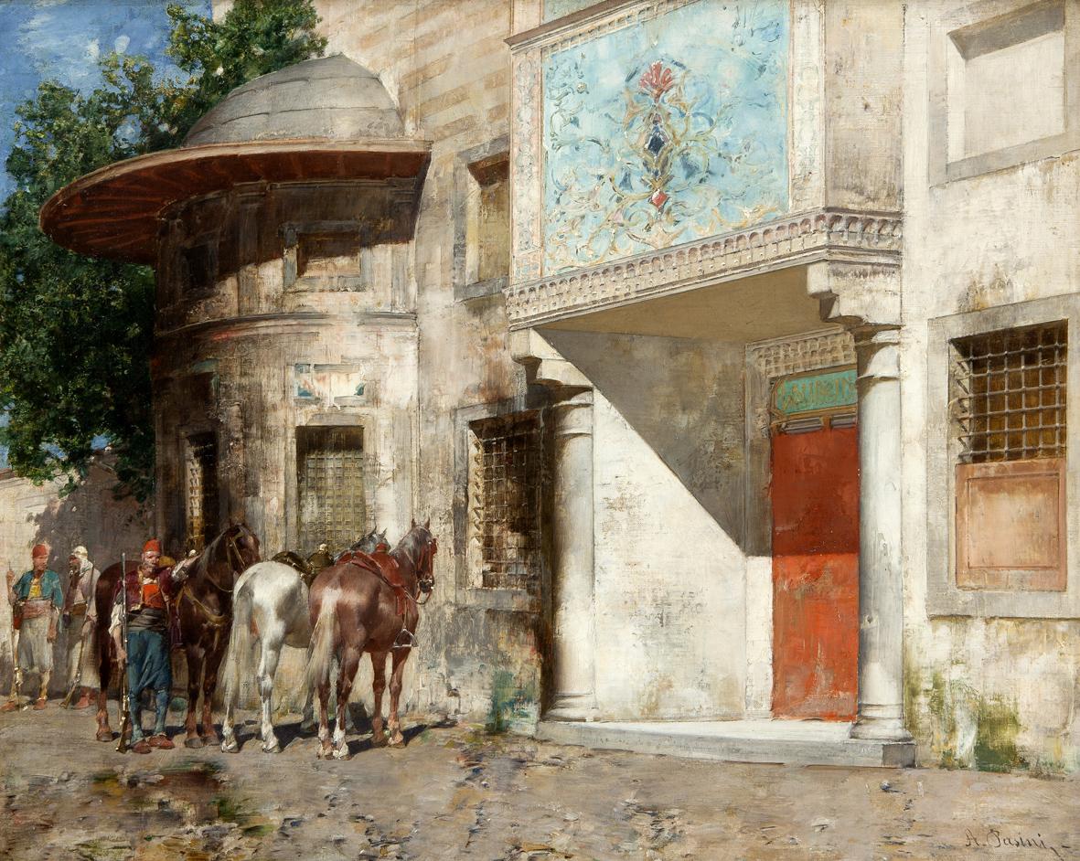 Mamiano di travesetolo, parma, fondazione magnani rocca, Alberto-Pasini-Davanti-alla-Moschea-1875-80-olio-su-tela