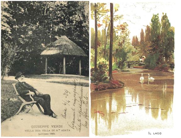 Verdi agricoltore cartoline club dei 27 e Cartolina illustrata L. Metlicovitz
