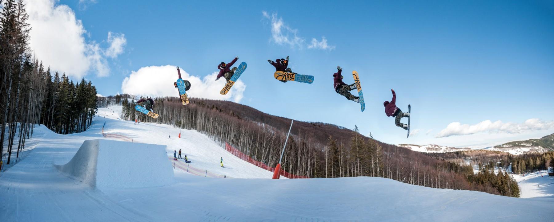 Snowboard al Cimone