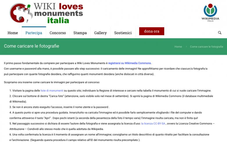 come partecipare a Wiki Loves Monument inEmiliaRomagna - come caricare le foto