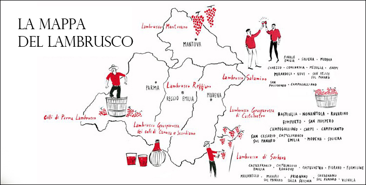 Mappa del Lambrusco - Foto di ilnovello.it