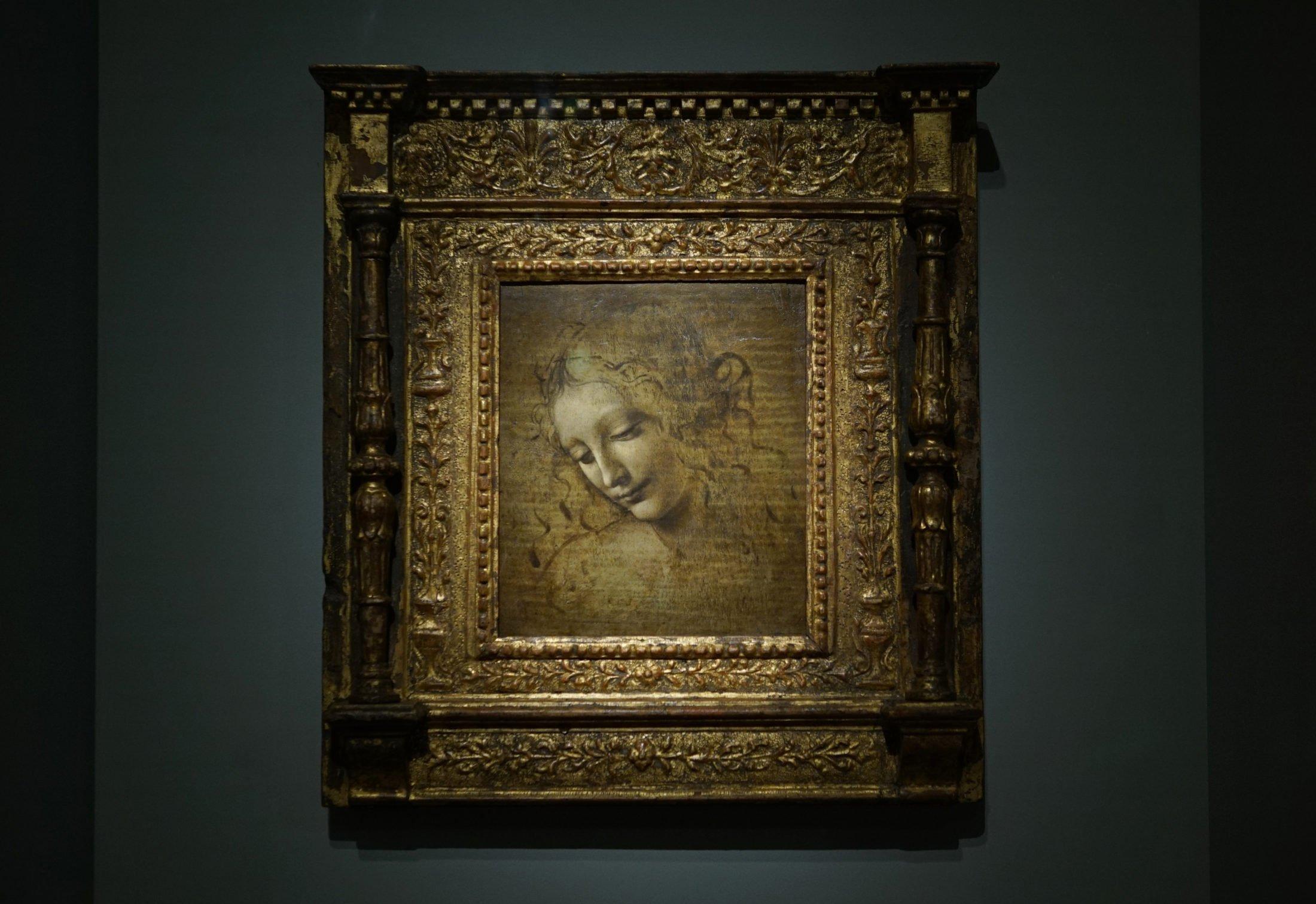 Leonardo da Vinci, La Scapiliata (Galleria Nazionale, Parma)