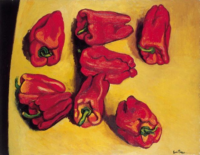 pieve-di-cento-bologna-magi-Guttuso Renato_Peperoni 1964_olio su tela_cm 70x90