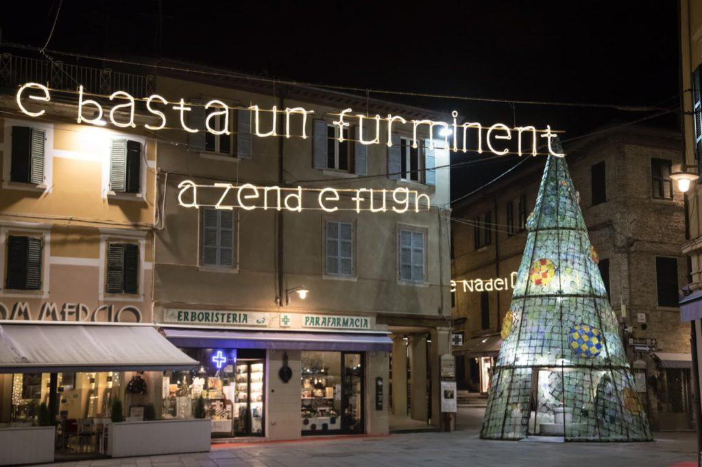 Santarcangelo di Romagna (RN), luminarie poeti