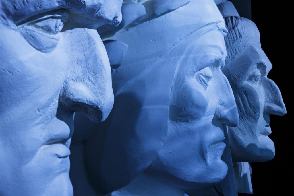 Dante Museum, Face Room | Ph. Marco Parollo, Archive of Ravenna Municipality