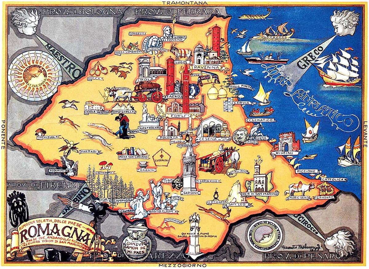 Mappa di Romagna (1955) by Giannetto Malmerendi