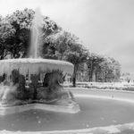 Rimini, Fontana dei quattro cavalli sotto la neve, Ph. Gianluca Moretti