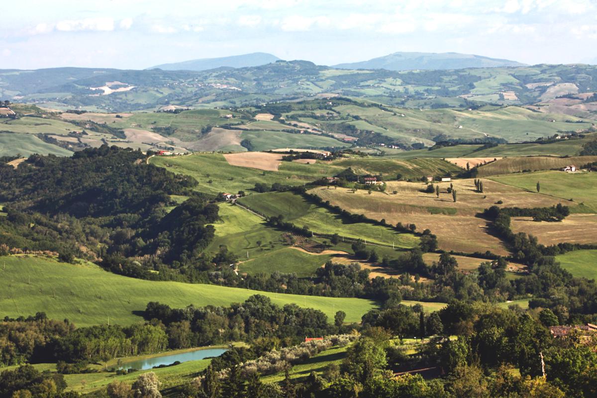Panorama sulla Val Conca (Rimini)