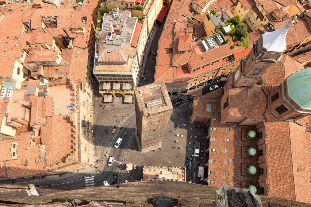 Bologna, view from the top of the Torre degli Asinelli | Pic by bolognawelcome.com
