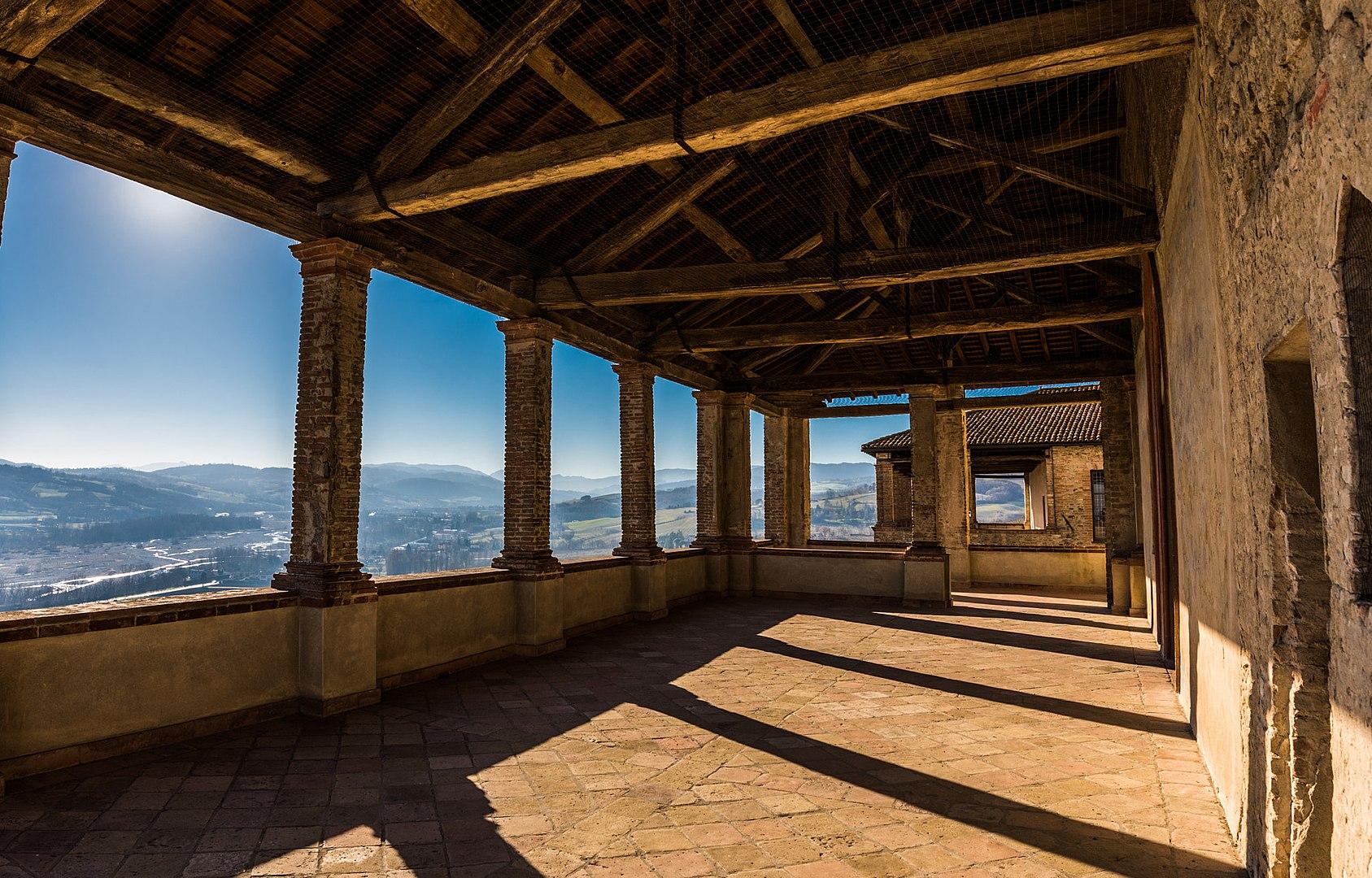 Castle of Torrechiara (Langhirano, PR) - North-East Loggia