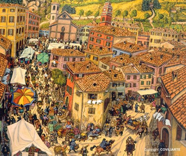 Gino Covili 1997, Il mercato lungo Via Umberto I