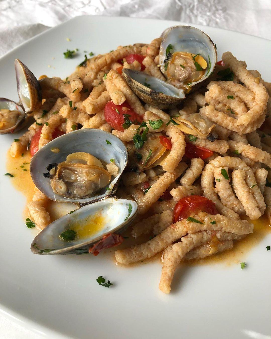 Passatelli asciutti con vongole e pomodorini   Ph. italian.homemade
