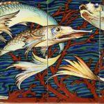 Faenza, Achille Calzi, Pannello in ceramica con pesci, Fabbriche Riunite di Faenza, 1906 -09 – Ph. www.italialiberty.it