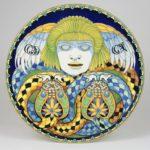 Faenza, Achille Calzi, Piatto con Gorgona – 1918 maiolica – Ph. Museo Internazionale delle Ceramiche in Faenza