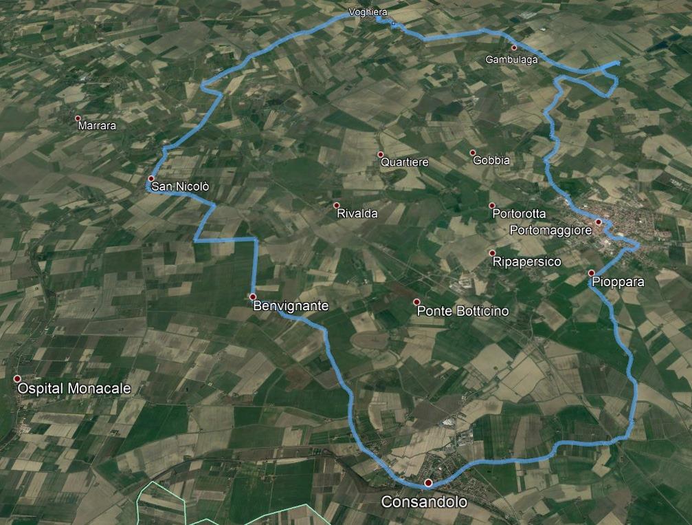 Anello dei Borgia Cycling Route