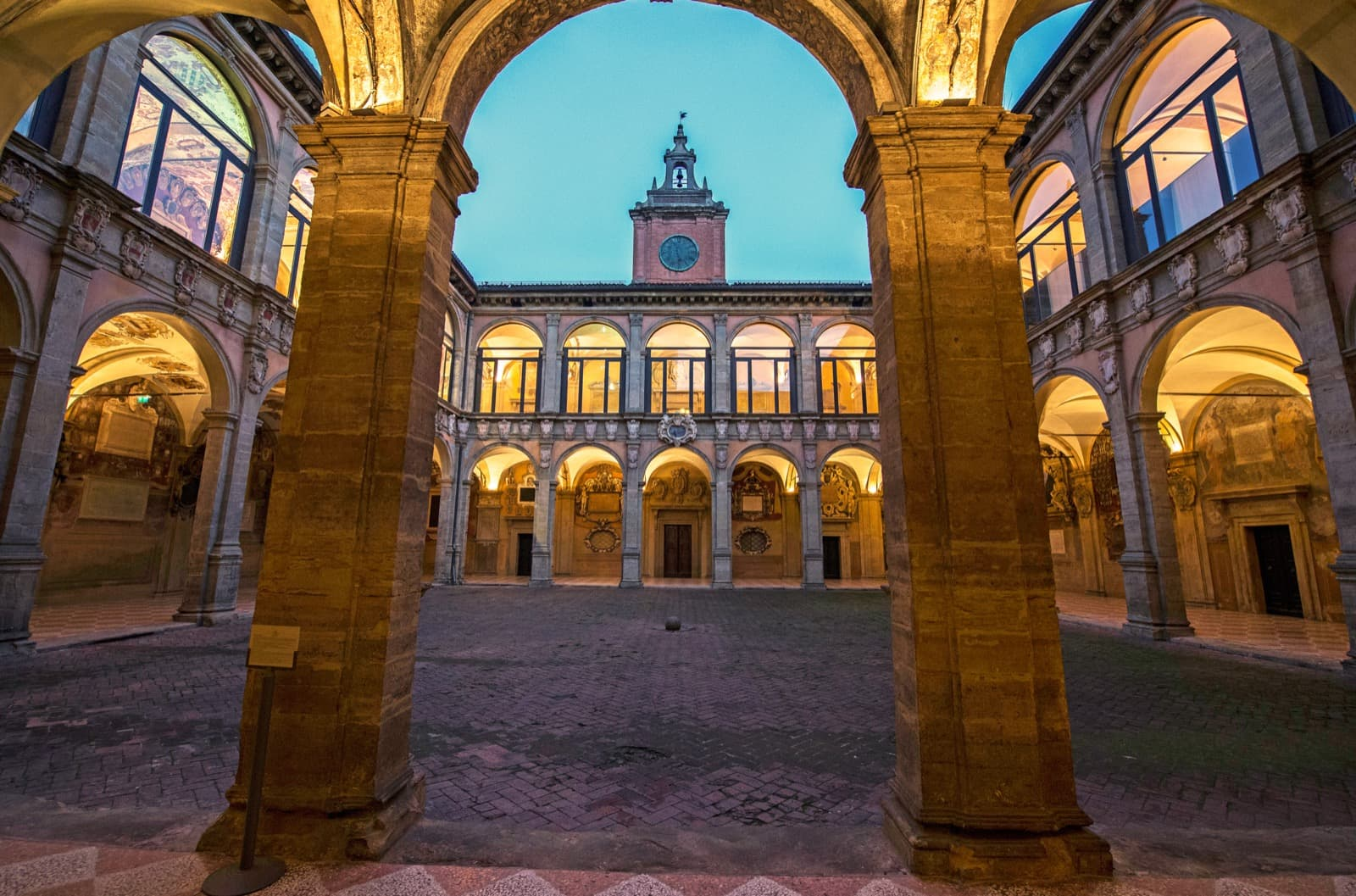 University of Bologna and its historical places