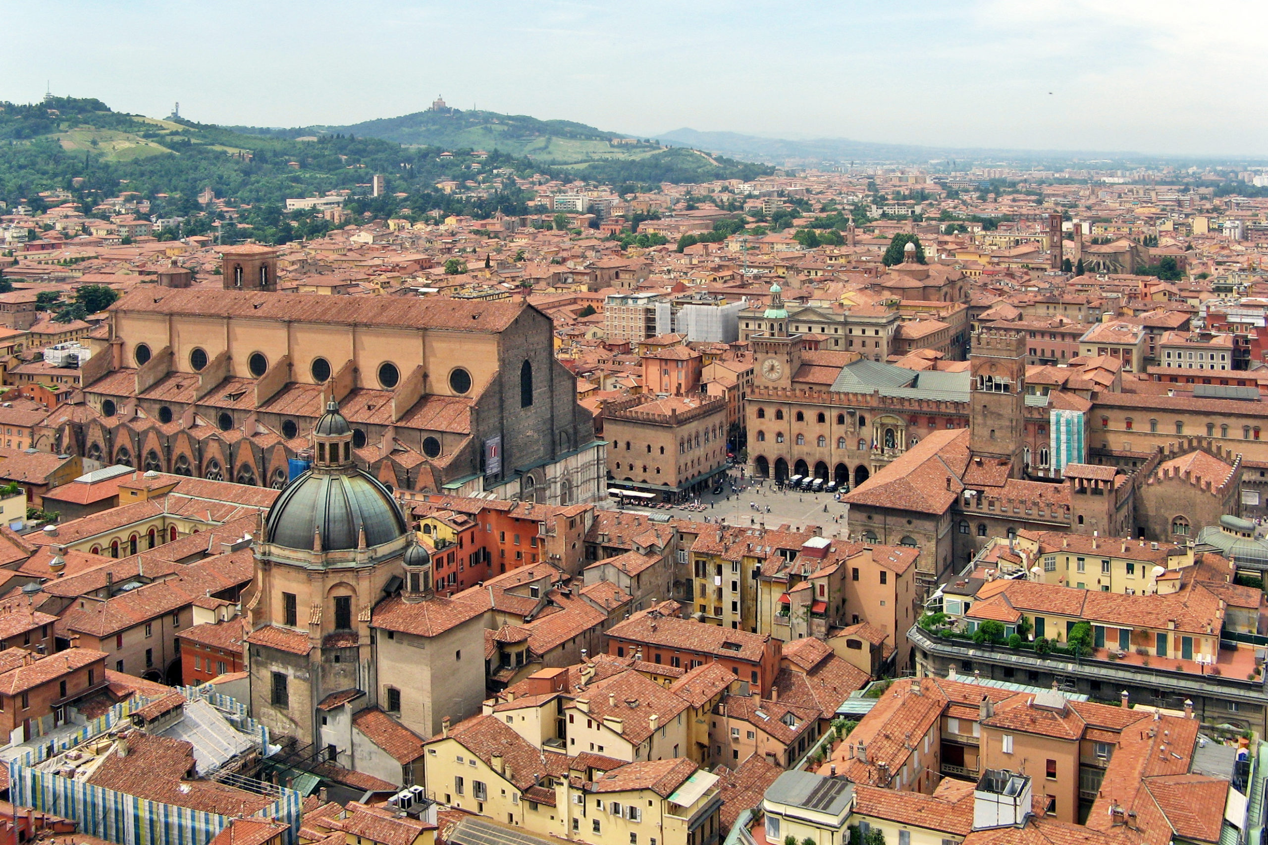 A charming panoramic view of Bologna