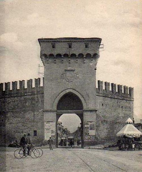 Bologna, porta San Felice – foto storica, ph. Paolo Monti