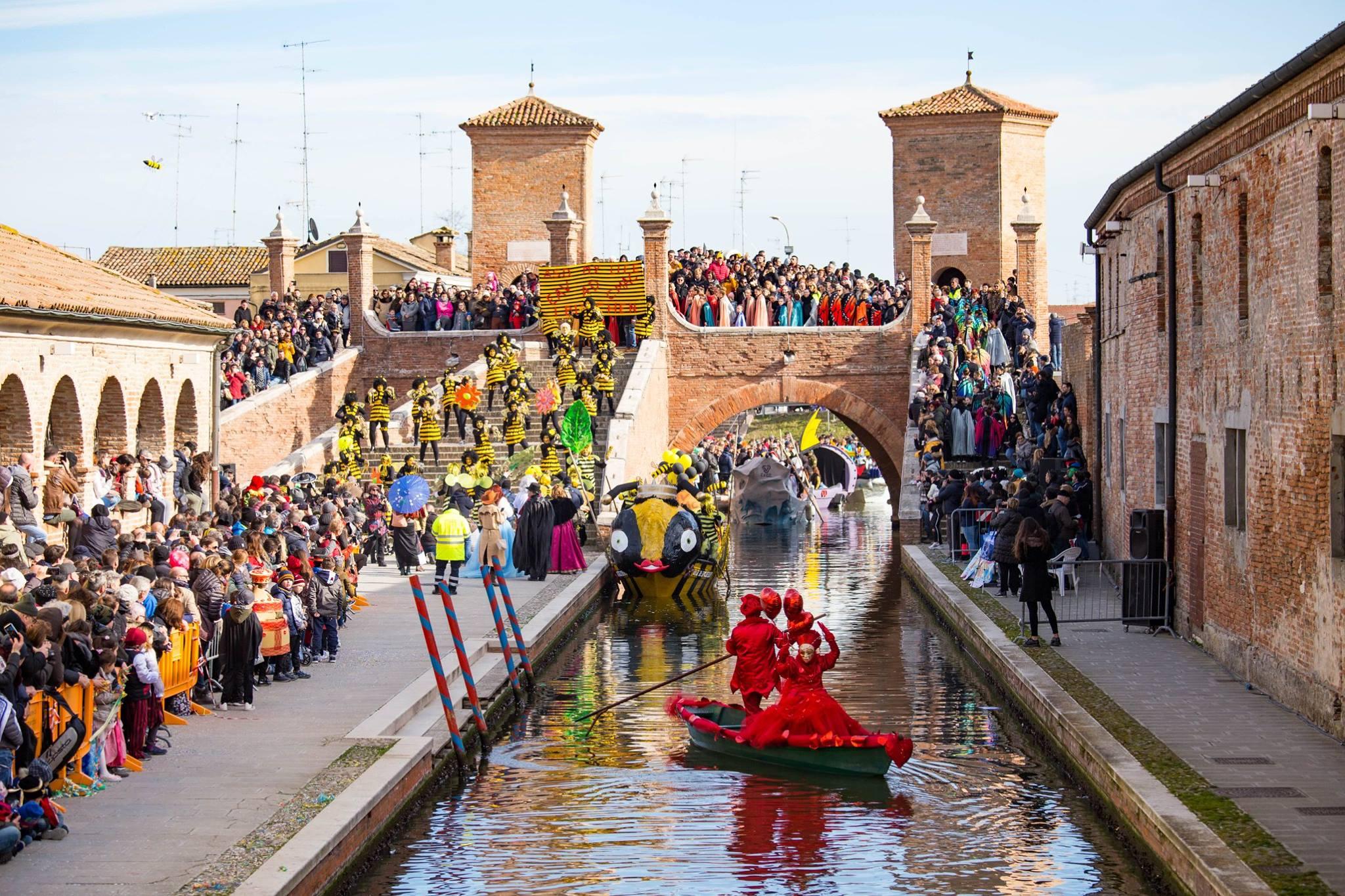 Carnevale sull'acqua Comacchio 2019 via Facebook