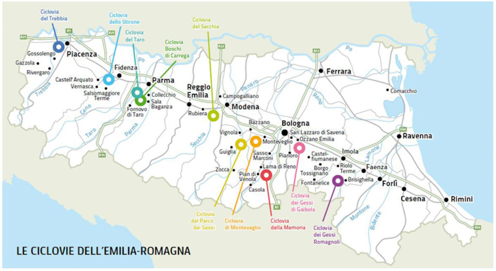 Cycle paths of the parks Emilia Romagna
