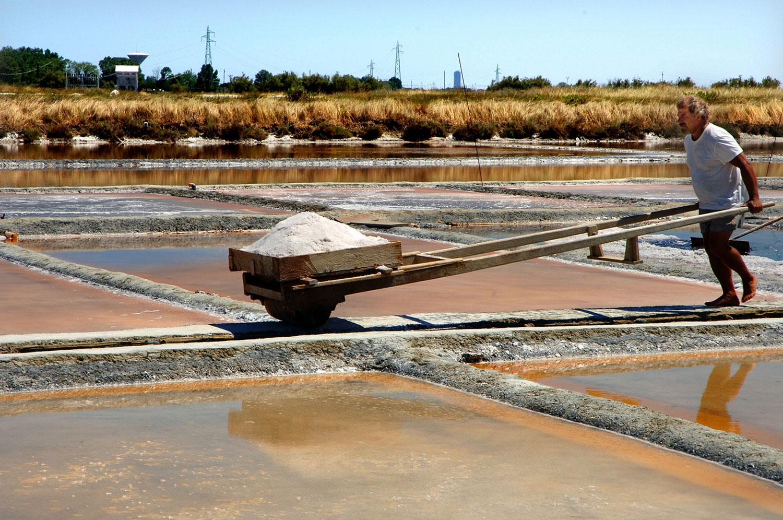 Cervia's Salt mines   The manual picking of salt