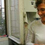 A smiling Emanuela inside her lab Ph. Fabio Duma