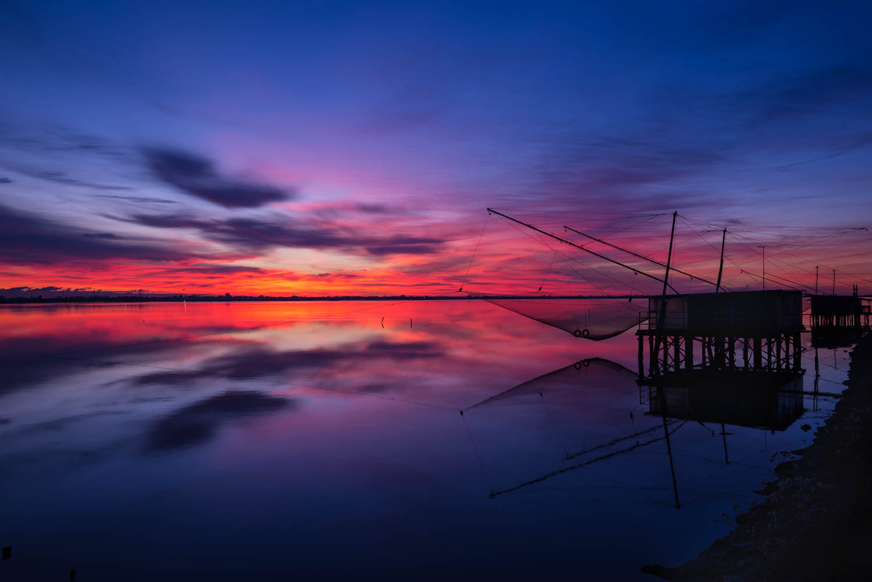 Fishing huts, dreamlike places