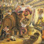 Gino Covili | La pigiatura dell'uva, 1975
