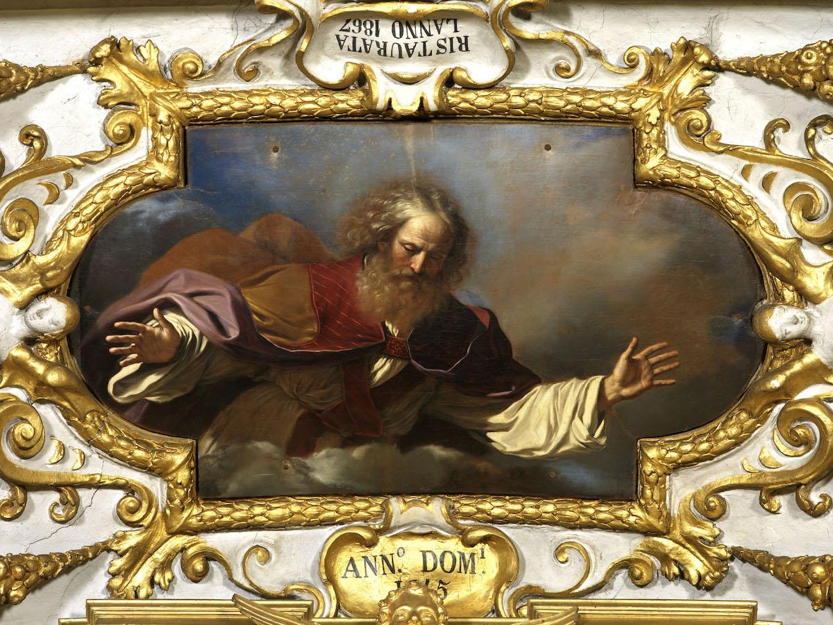Guercino, Padre Eterno, 1645, olio su tela, Cento, Chiesa del Rosario