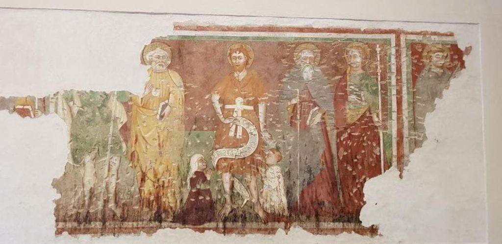 I Love Francigena – Affresco Chiesta San Tommaso Becket, ph. kler_lakler