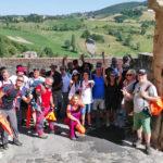 SocialTrek (Cammino di San Francesco)   Foto di gruppo alla fine del cammino