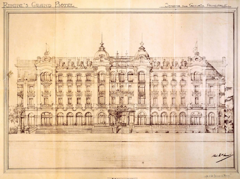 Romagna Liberty, Rimini, The Grand Hotel project in Liberty Style - Ph. Romagna Liberty