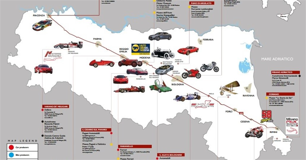 Supercars Road Trip in Italy's MotorValley