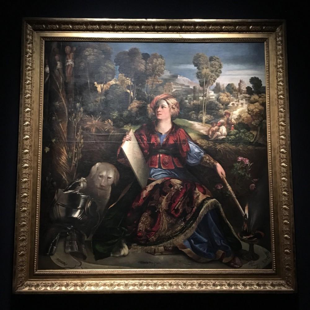 Dosso Dossi Melissa 1518, olio su tela Roma, Galleria Borghese La maga Melissa sembra uscire dai versi dell'VIII canto: circondata dal cerchio magico, è intenta ad annullare il sortilegio della malvagia maga Alcina che ha trasformato i cavalieri-amanti in fiori, alberi e animali.