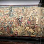 Manifattura fiamminga su disegno diBernard van Orley Battaglia di Pavia con la cattura del re diFrancia 1528-31, arazzo in lana, seta, argento e oro Napoli, Museo Nazionale di Capodimonte