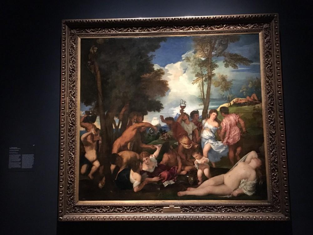 Tiziano Vecellio Il baccanale degli Andrii 1522-24, olio su tela Madrid, Museo Nacional del Prado