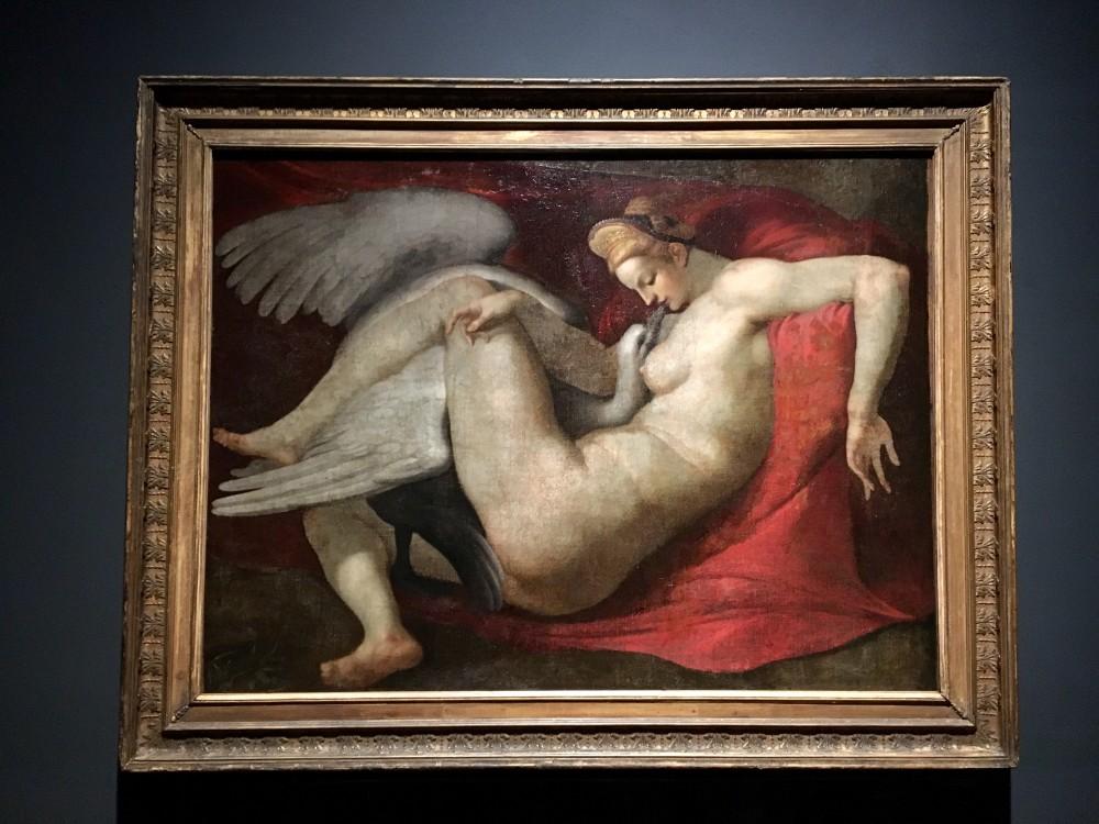 Michelangelo Buonarroti (copia da) Leda e il cigno 1530, olio su tela Londra, The National Gallery
