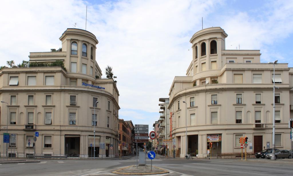 Twin Buildings and Corso Repubblica