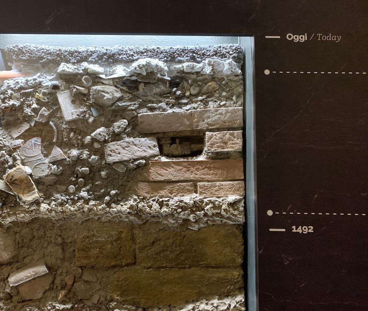 Piacenza, Museo Archeologico,Stratigrafia, ph. Archivio Comune di Piacenza