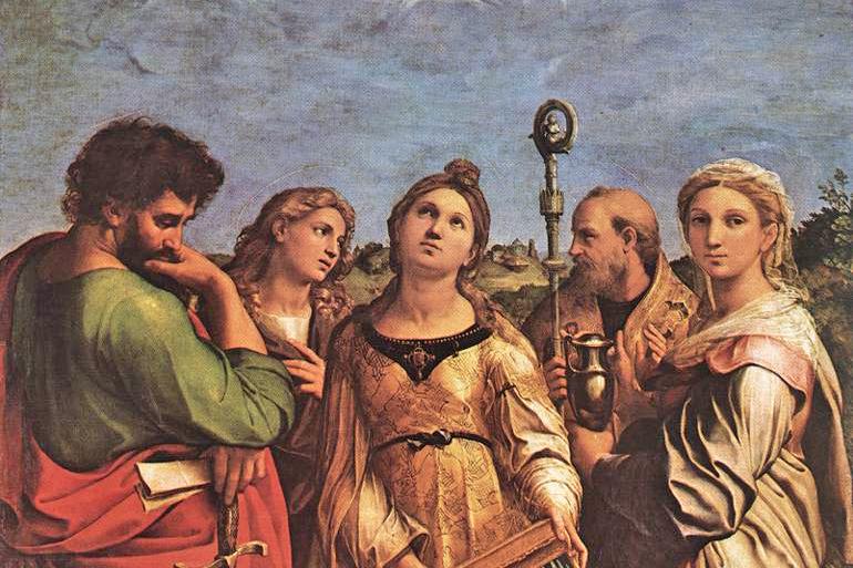 Raffaello, The Ecstasy of St. Cecilia (National Gallery, Bologna)