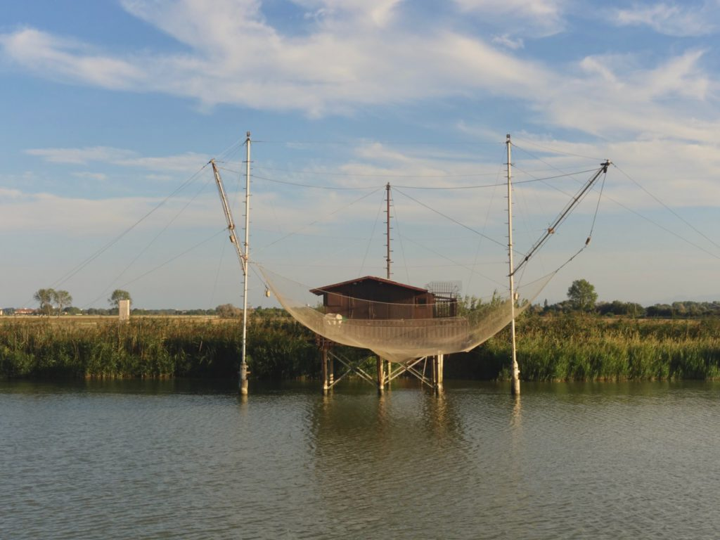 Ravenna, Lido di Classe – capanni da pesca, ph. Melanie Chiselotti – sentieriliberi.com
