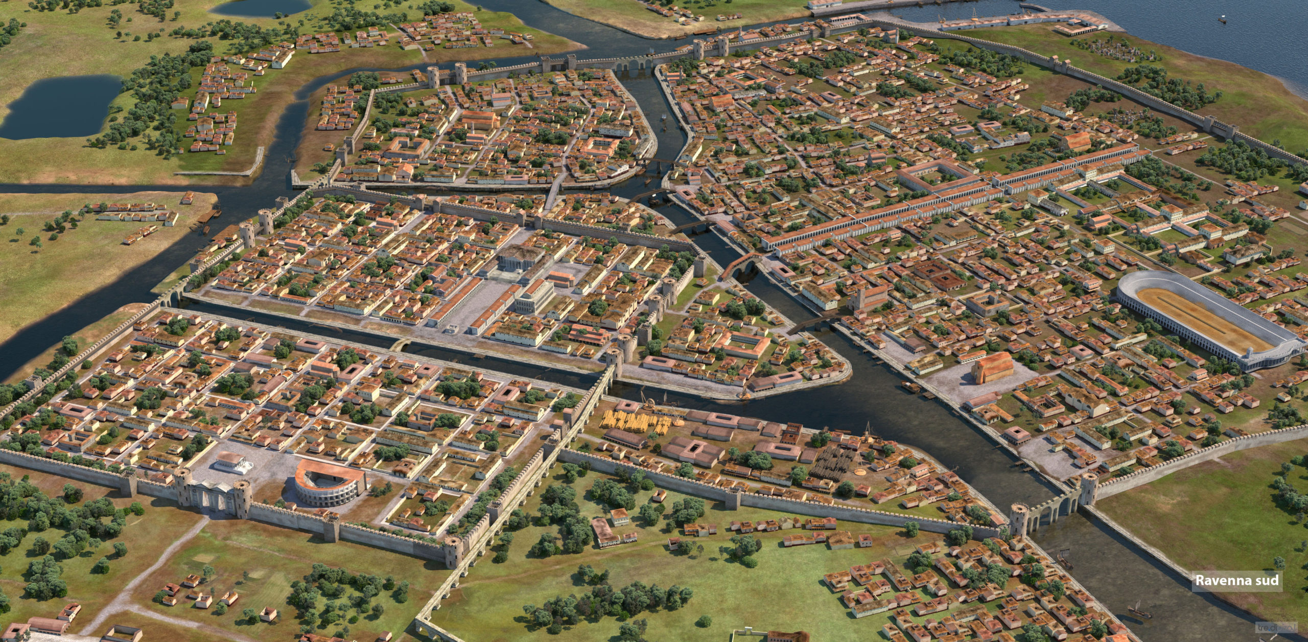 Ravenna (VI secolo) | Foto rendering © design.tre.digital