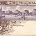 Rimini, hotel lido, viale Amerigo Vespucci, primi '900, Cartolina collezione privata – Ph. http://www.romagnaliberty.it/