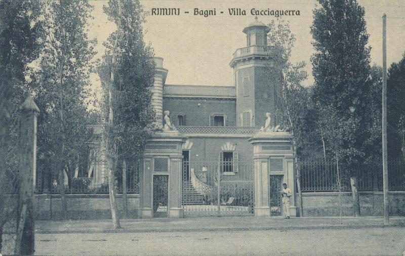 Rimini, villa Cacciaguerra, viale Vespucci, primi '900, Cartolina collezione privata – Ph. http://www.romagnaliberty.it/