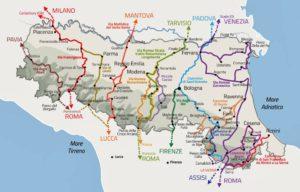 Route Planner: sloways in Emilia Romagna