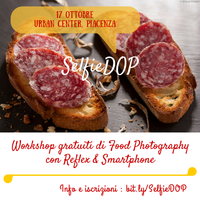SelfieDOP torna sabato 17 ottobre a Piacenza